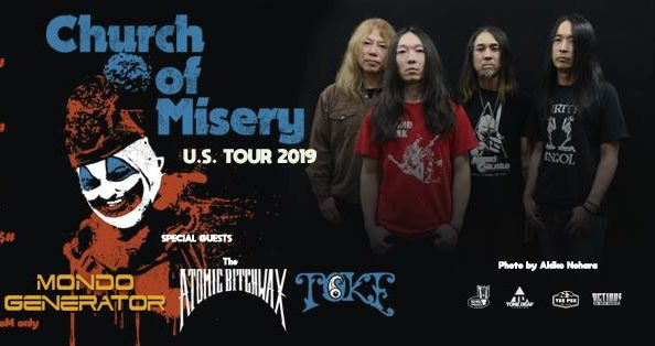 CHURCH OF MISERY Rare U.S. Headline Tour; Support From THE ATOMIC BITCHWAX, MONDO GENERATOR & TOKE