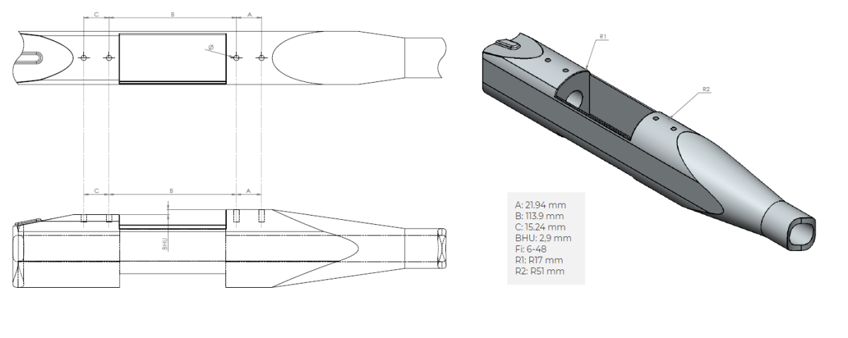 Remington 700 LA dimensions