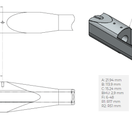 Remington 700 LA dimensions
