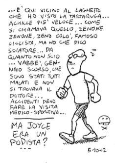 (Mumbling) Was Joyce a Runner?