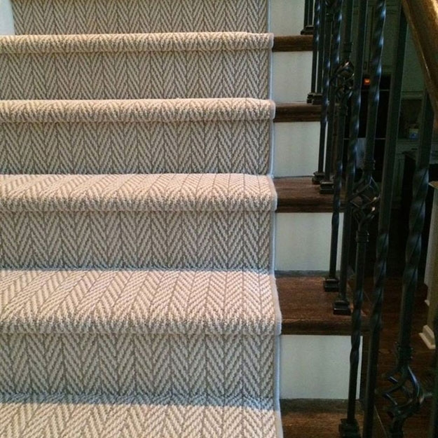 Rigdon Floor Coverings Inc Gallery   Cap And Band Carpet Stairs   Fun   Stair Landing   Upholstered   Office   Waterfall