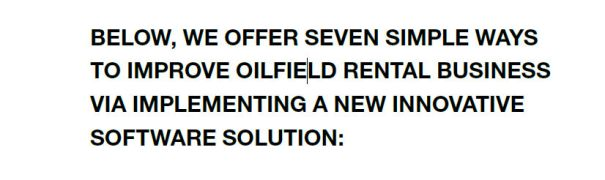 7 Ways to Boost Oilfield Rentals R3