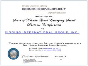 Certifications Rigging International Group