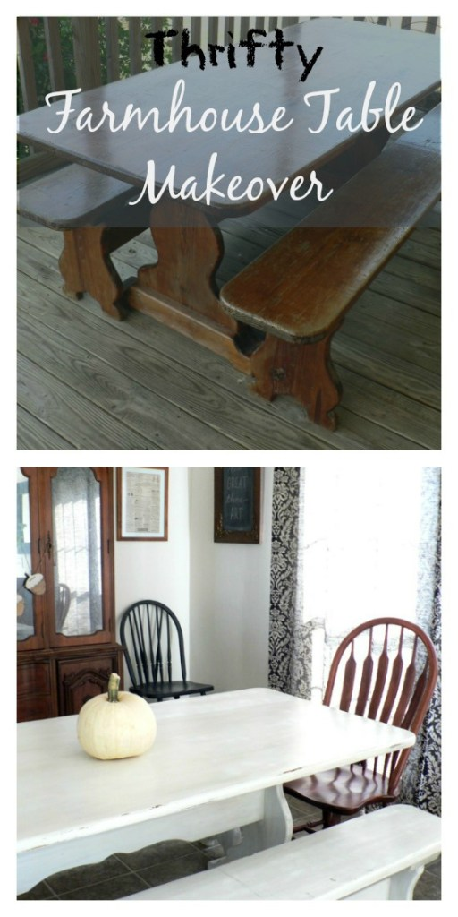 farmhouse table before and after by Riggstown Road