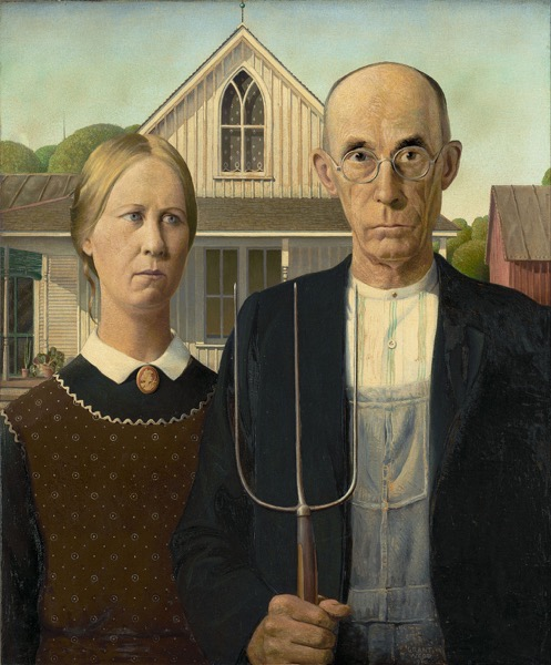 1280px Grant Wood American Gothic Google Art Project