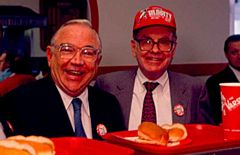 Coca-Cola Company's COO Donald Keough with Investor Warren Buffett