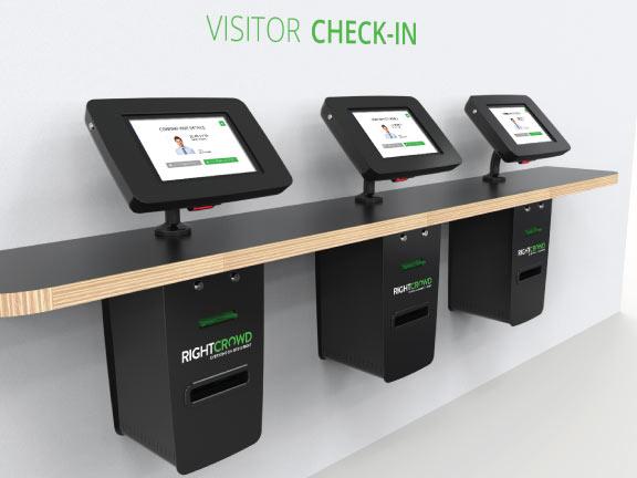 visitor check in pass kiosk