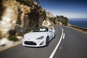 White Scion FRS Convertible