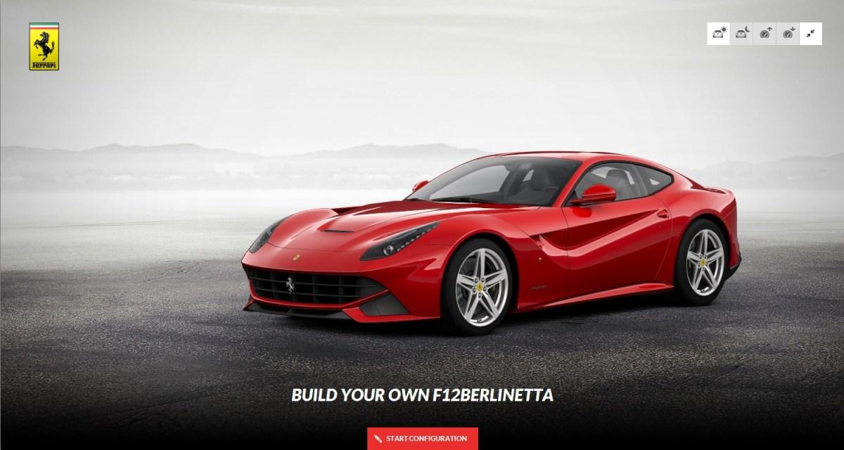Ferrari F12 Berlinetta build your own