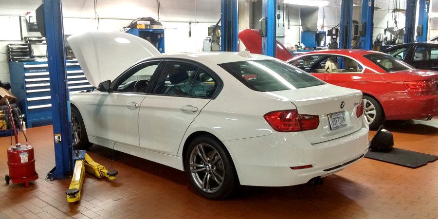 Josh's 2012 BMW 328i in Service Bay