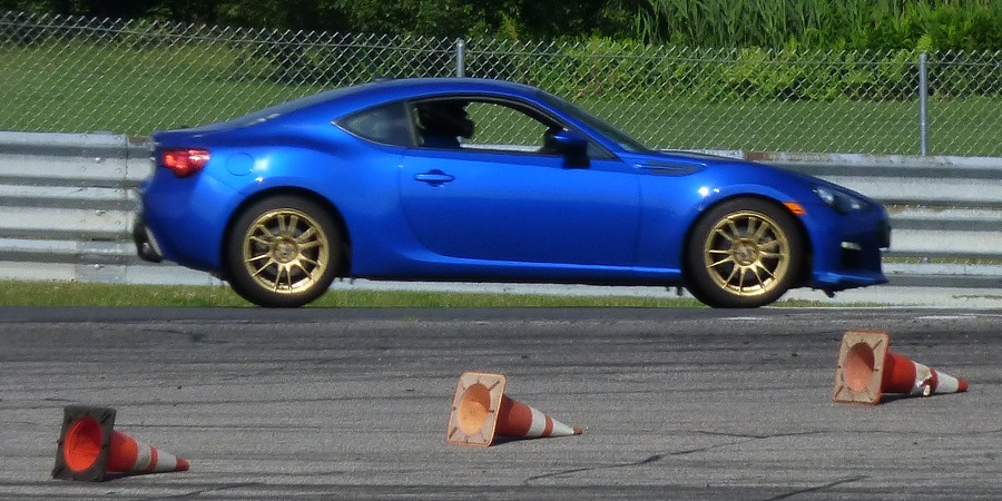 My BRZ on the track