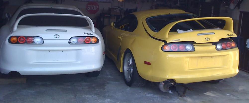 Toyota Supras in Garage