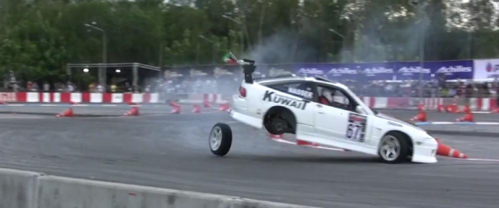 Nissan 240SX Drift Fail