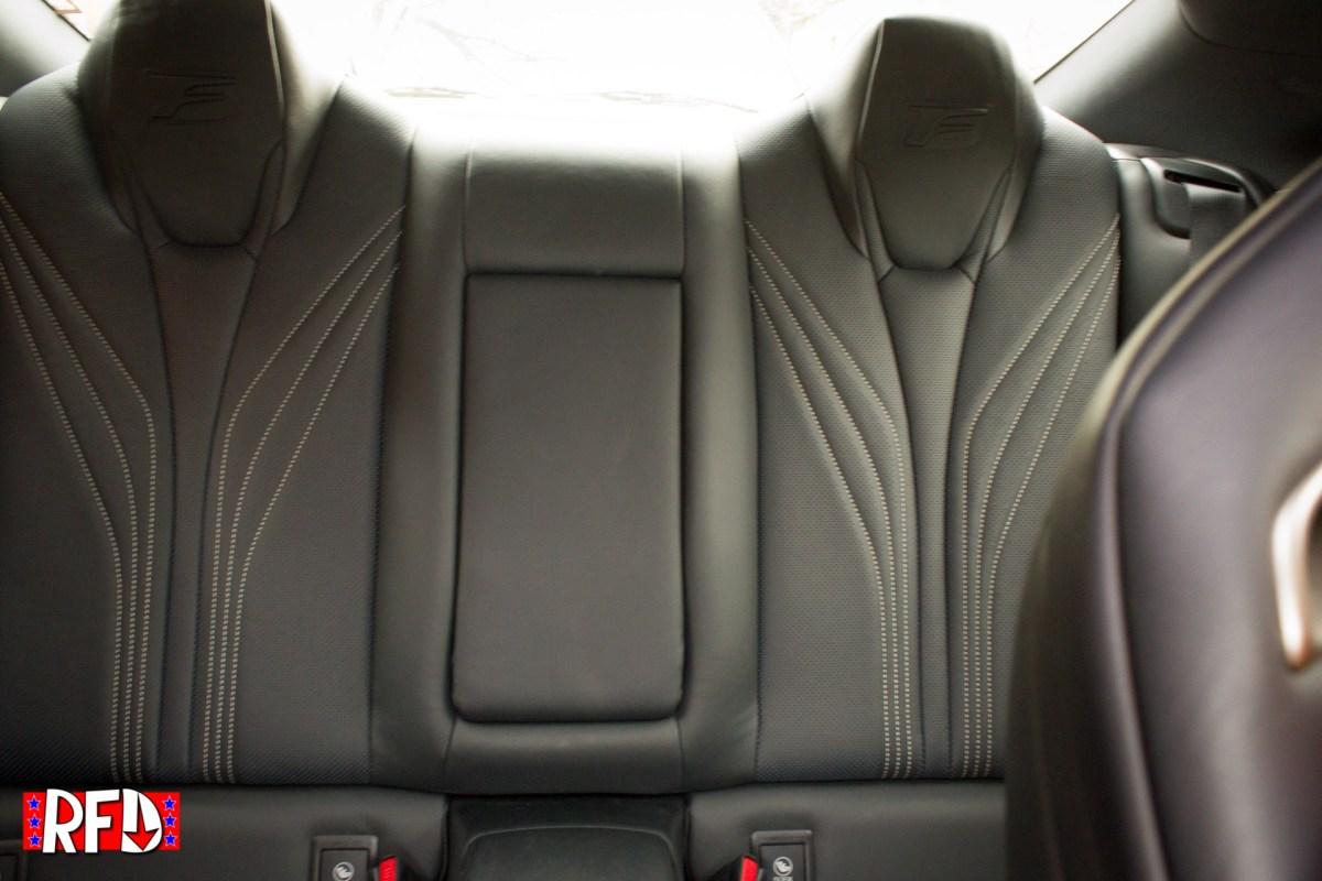 2016 Lexus RCF rear seats.