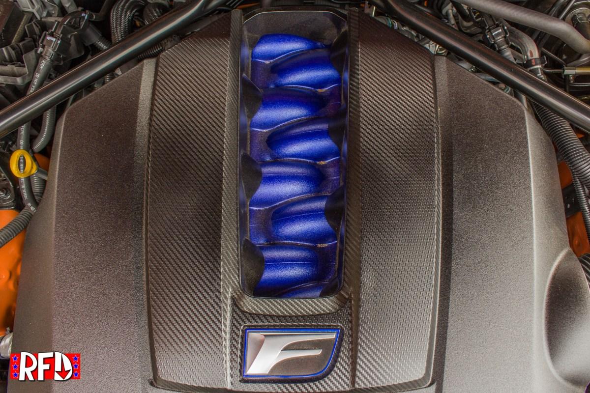 2016 Lexus RC F 5.0 V8 engine intake manifold cover.