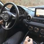 2016 Mazda Miata interior while driving