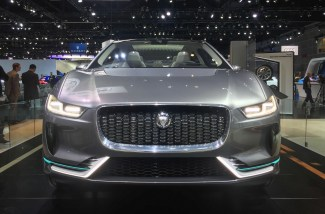 Front of the Jaguar I-Pace Concept at the 2016 LA Auto Show