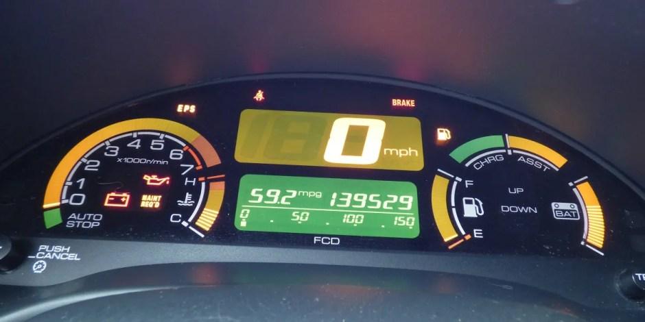 Honda Insight gauge cluster