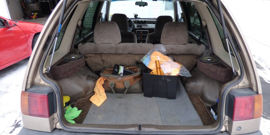 Civic wagon cargo area