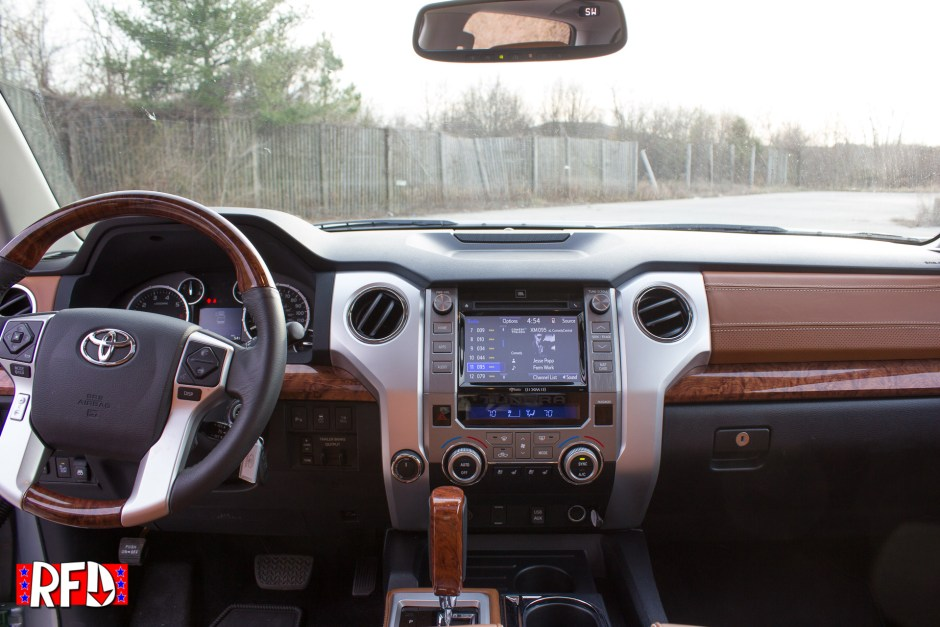 Leather interior of the 2017 Toyota Tundra 1794 Edition