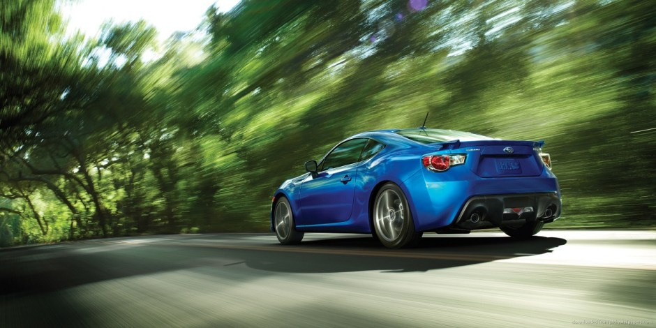 Subaru BRZ on forest road