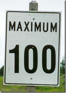 Canadian speed limit sign