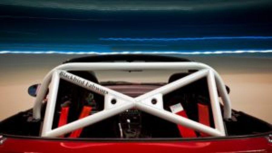 The Blackbird Fabworx GT3 style NA Miata Roll Bar, So Hot Right Now