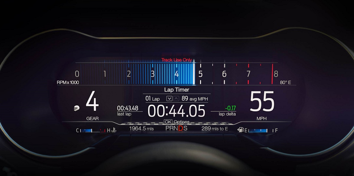 2018 Ford Mustang LCD instrument display