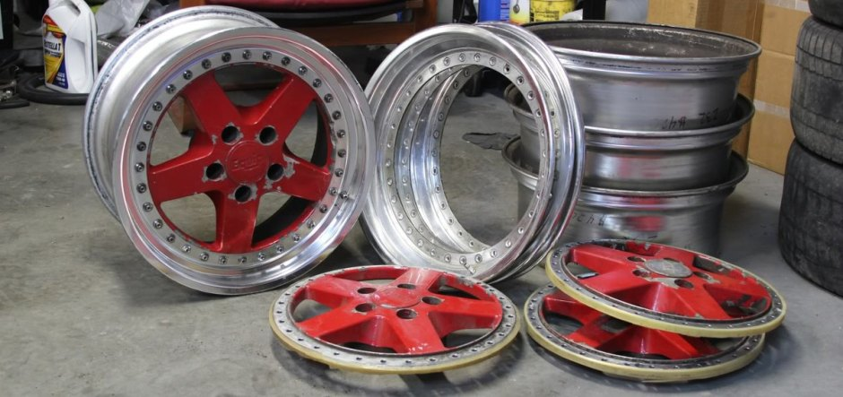 3-Piece Work Equip Wheels Disassembled