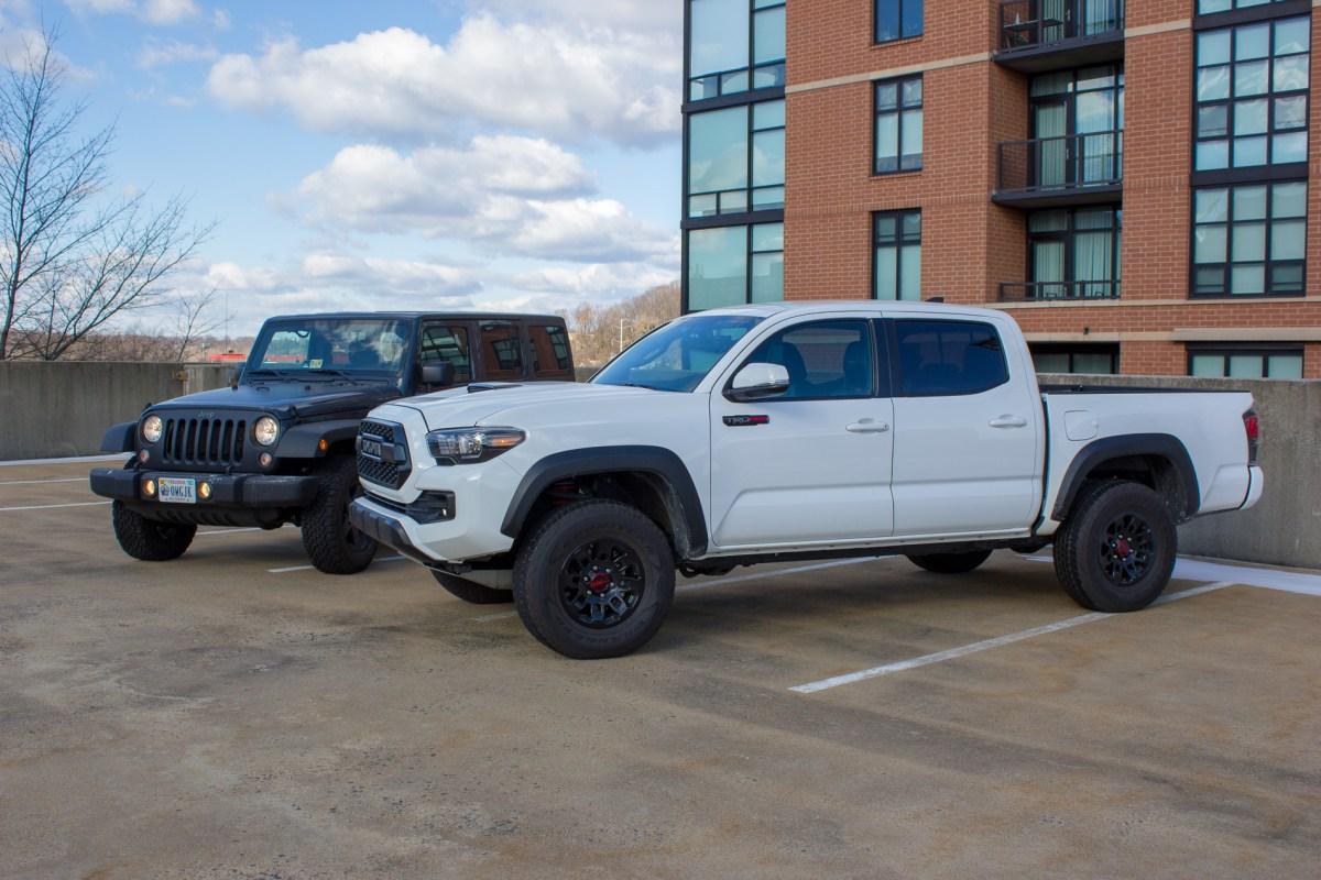 Jeep Wrangler vs. Tacoma TRD Pro