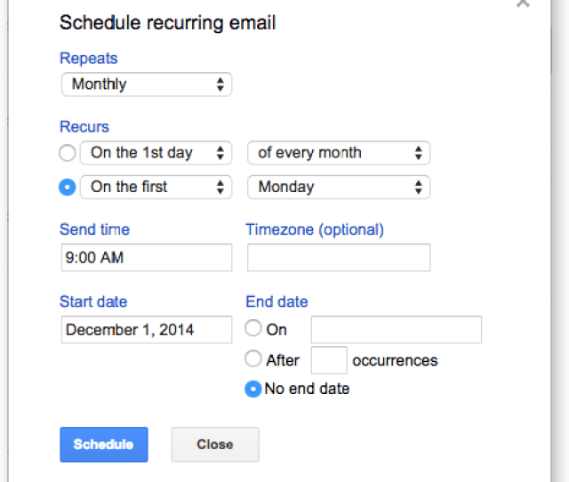Schedule Emails To Send Later Create Email Reminders Recurring Email In Gmail