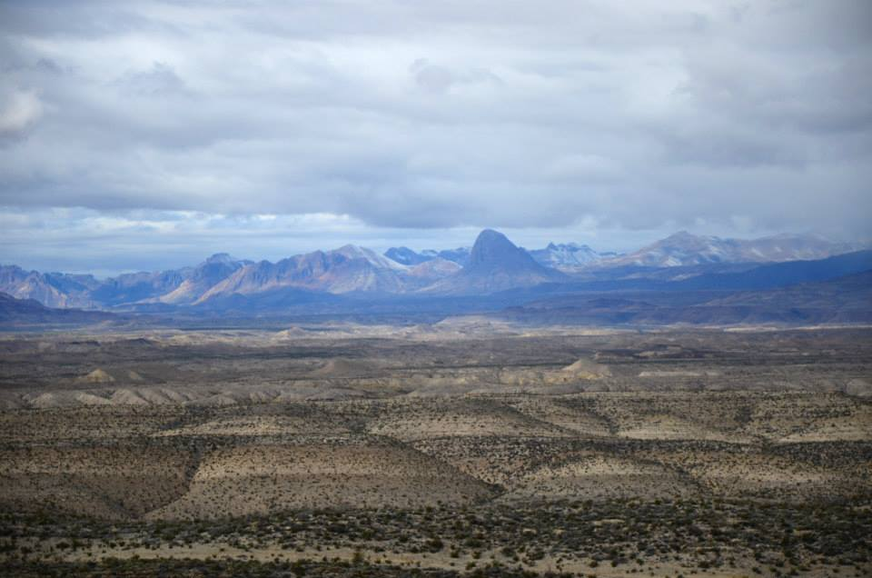 The open desert with the Chisos Mountains in the background. This is looking north to the mountains from the Rio Grande. When were on the South Rim, we looked to where we were standing when I took this picture.