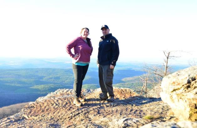 Hiking Mount Magazine, highest point in Arkansas