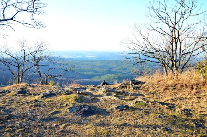 Hiking Mount Magazine, highest point in Arkansas