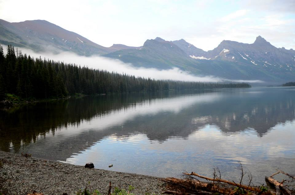 Hiking the Belly River Trail in Glacier National Park.