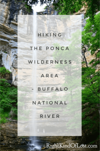 Hiking in the Ponca Wilderness Area in northwest Arkansas