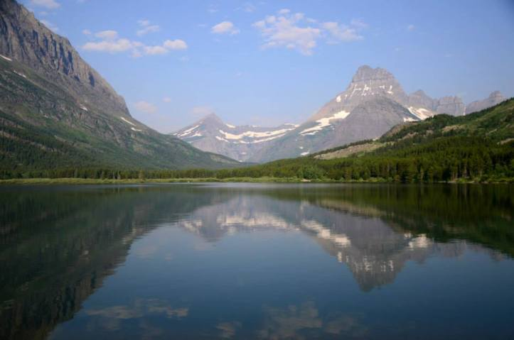 Visiting Glacier National Park, one the country's most beautiful mountainscape. The park is located in northern Montana on the border with Canada.