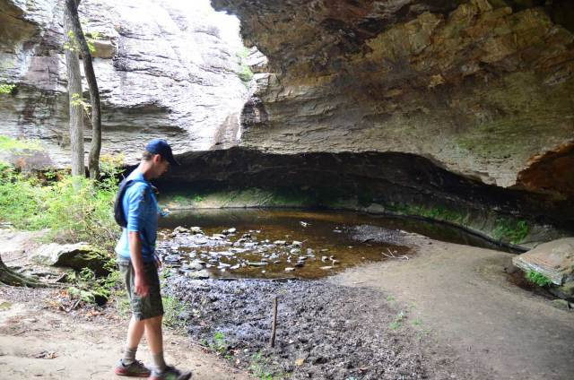 The Seven Hollows Trail at Petit Jean State Park in central Arkansas showcases some of the interesting geological features unique to the park.