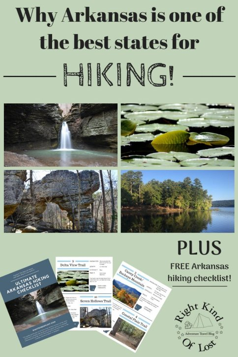 What makes Arkansas so special and I why think it is the best state for hiking. Plus FREE Downloadable Arkansas Hiking Checklist