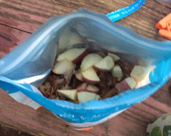 Large apple chunks are shown in Bushka's Kitchen Hearty Harvest Bowl