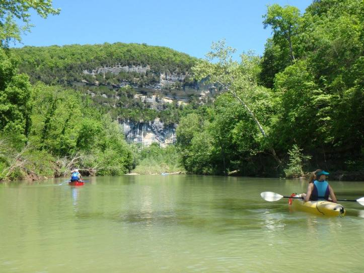 Floating along the Buffalo National River. Going beyond Leave No Trace to show respect to the wild spaces we love as well as those who come after us for generations to come.