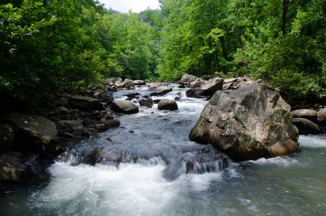 Richland Creek on the way to Twin Falls is shown