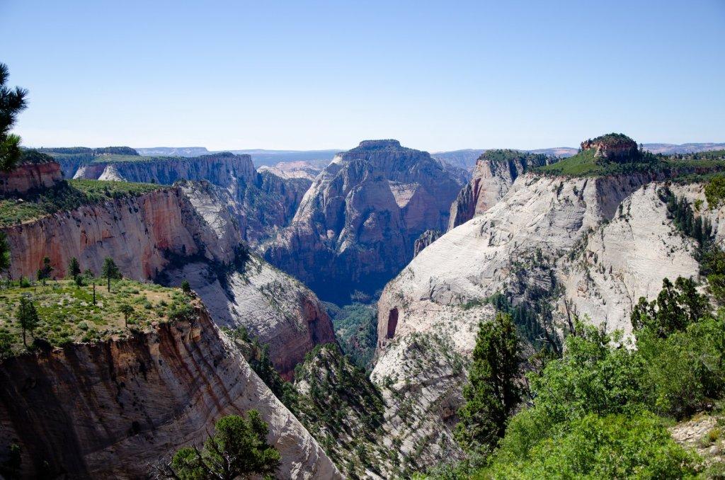 The unique rock structure of Zion National Park is shown
