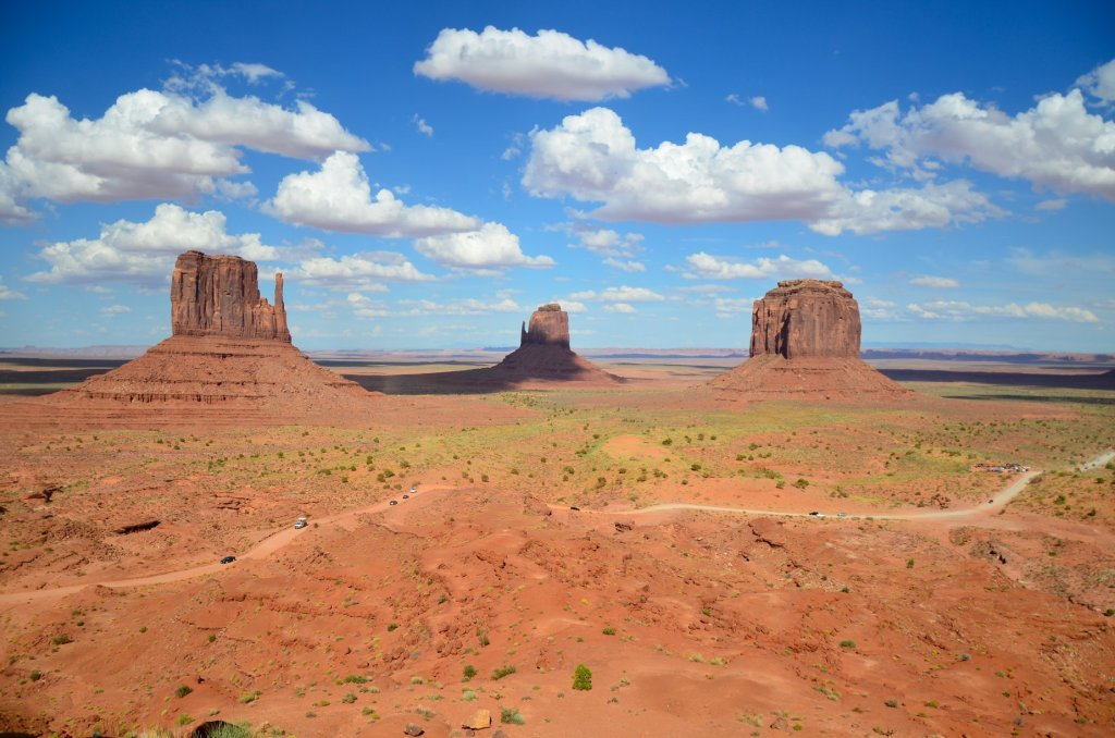 Monument Valley Navajo Tribal Park is shown from the hotel