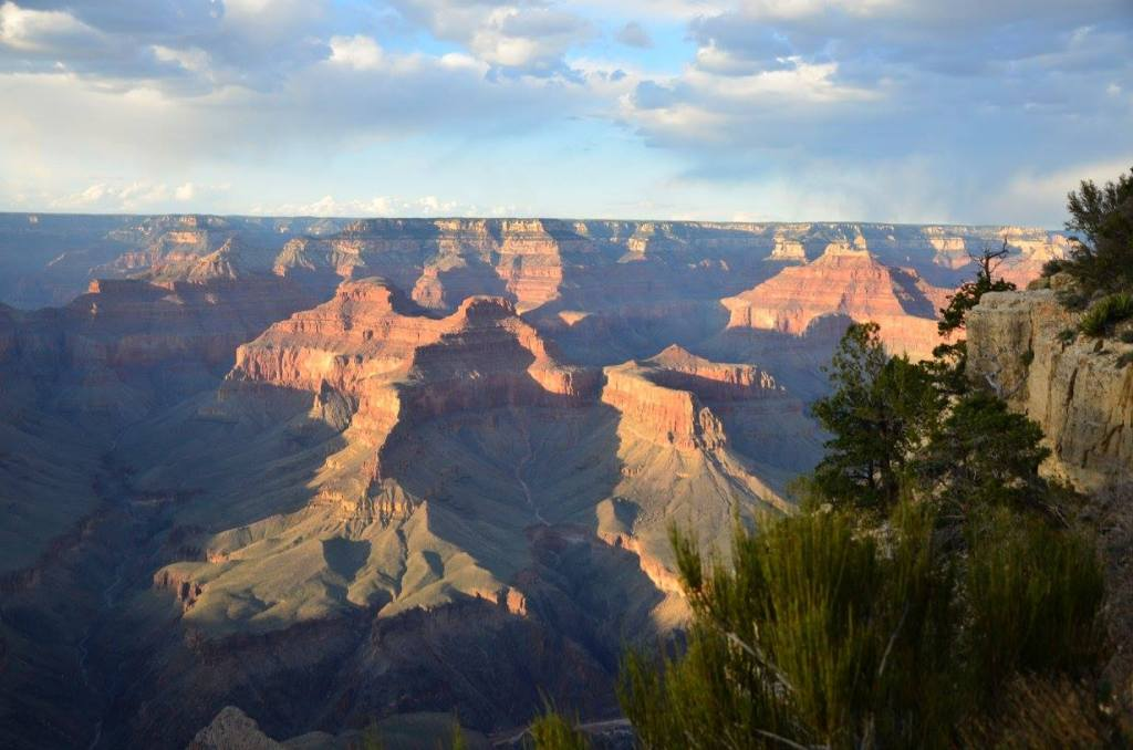 The Grand Canyon is shown from the south rim