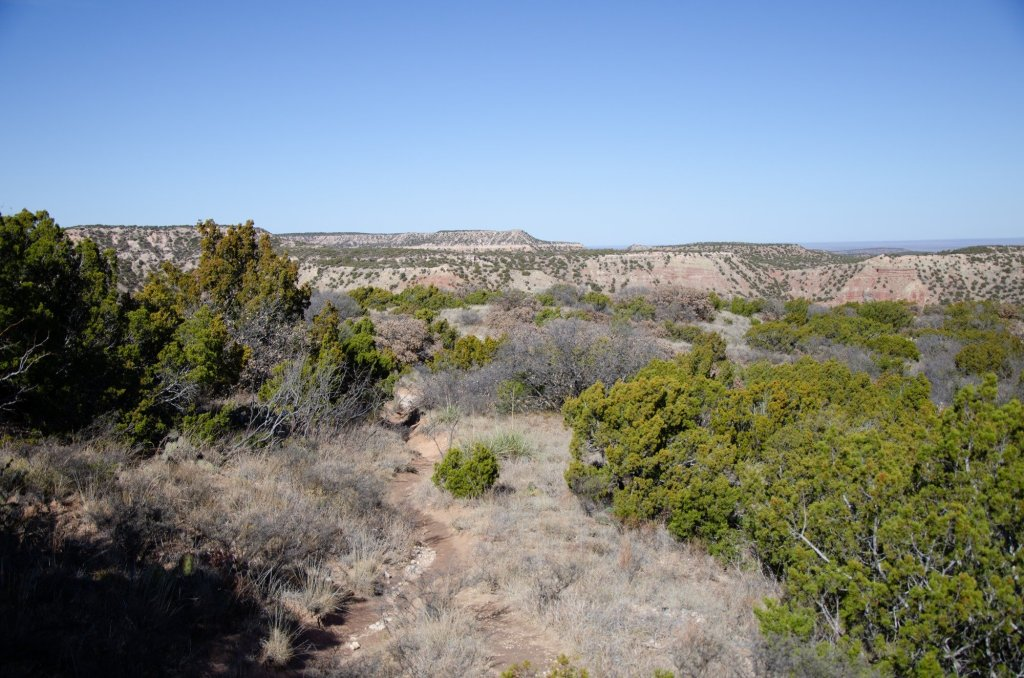 Hiking along Caprock Canyons