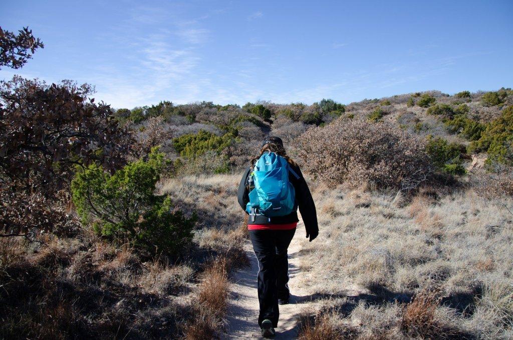 hiking along the Caprock Canyons hiking loop