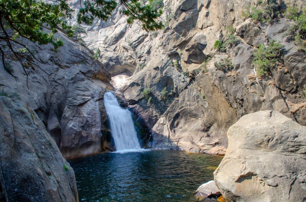 Roaring River Falls is shown at Kings Canyon National Park