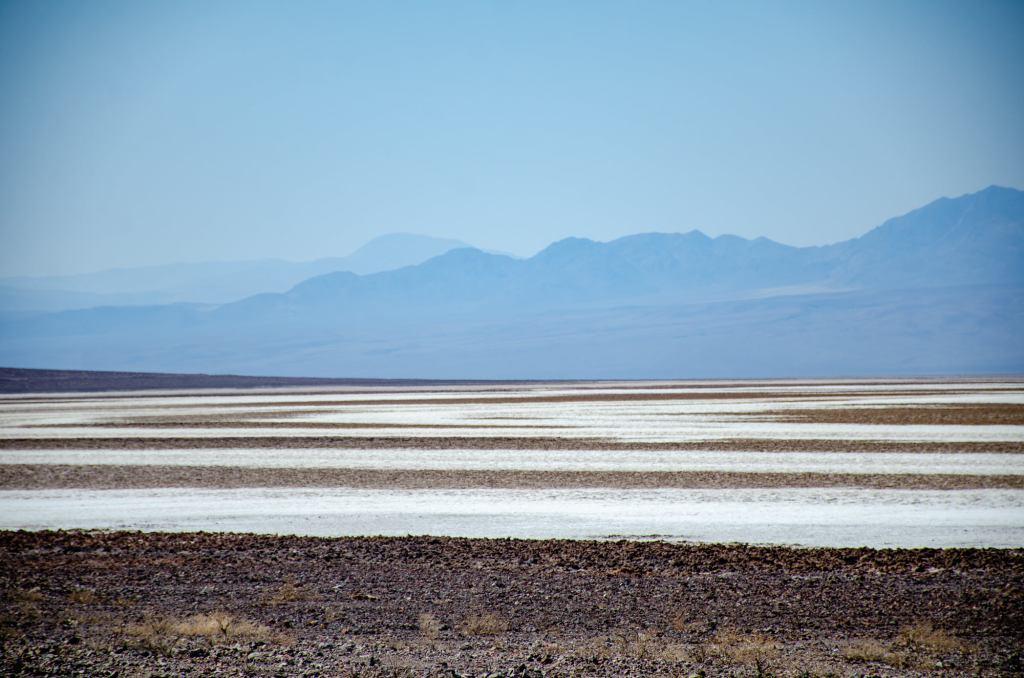 Salt flats are shown