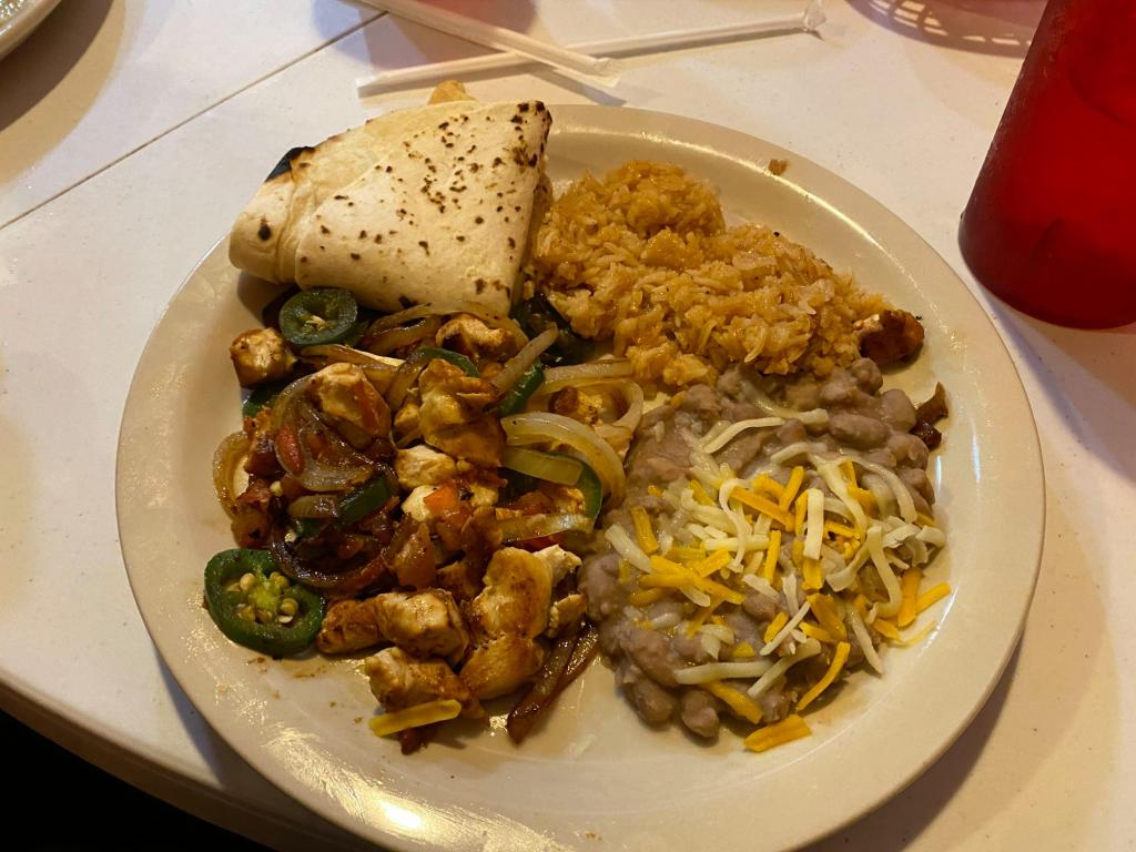 A plate of Tex-Mex is shown